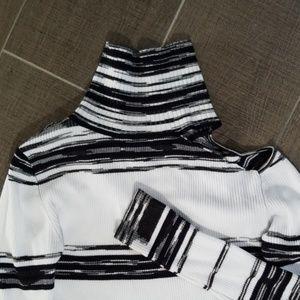 Bebe ribbed midi length sweater dress